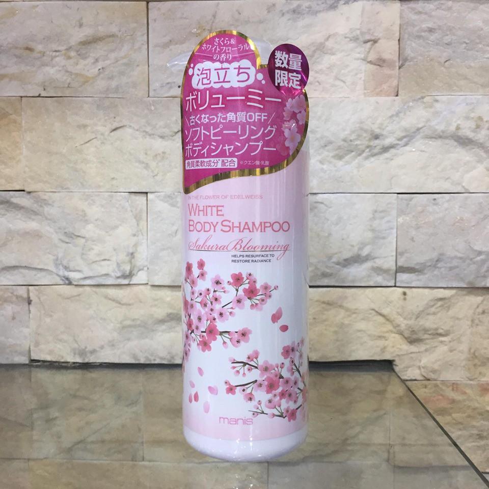 Sữa tắm trắng da manis White body shampoo - SAKURA