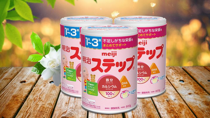 Meiji Step 800g Baby Powder Milk For 1 3 Years Old Jagodo