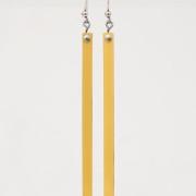 orecchini fiammifero giallo oro