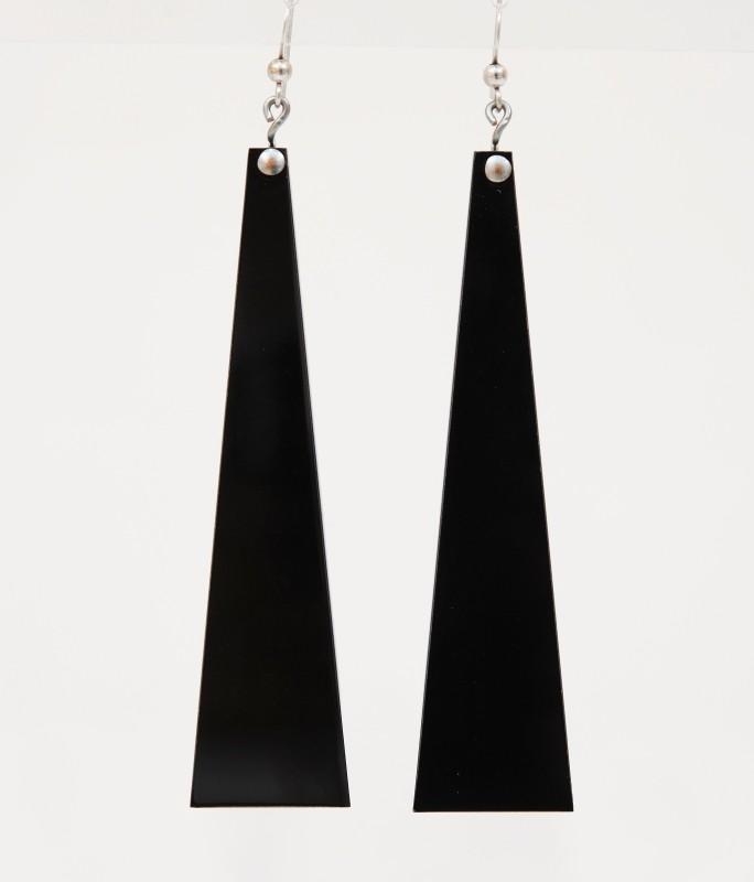 orecchini plexiglass nero