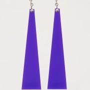 orecchini plexiglass viola