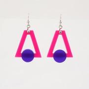 orecchini plexiglass colorato