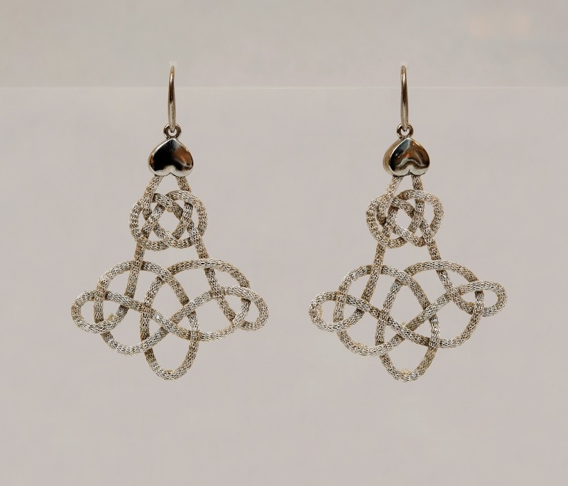orecchini calza diamantata