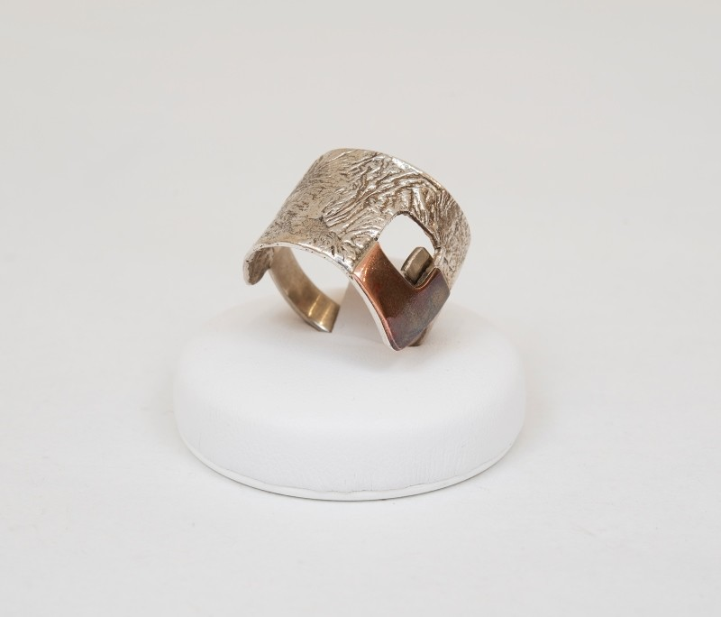 anello argento e bronzo
