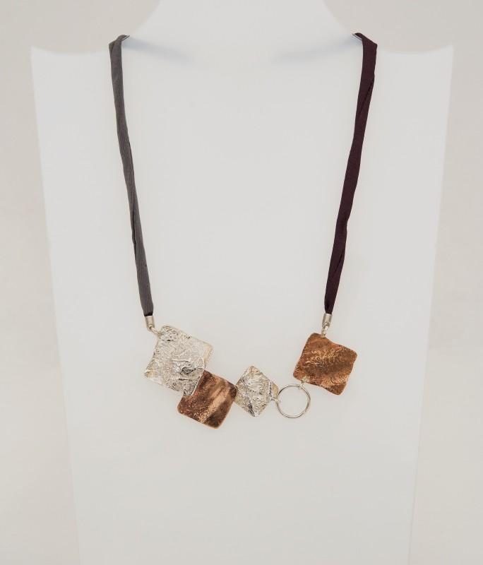 collana argento e bronzo