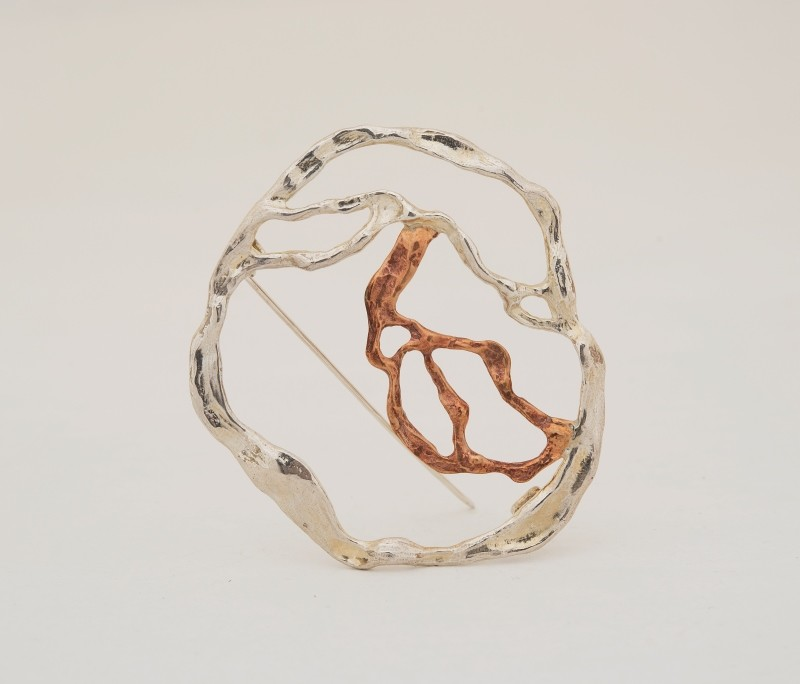 bracciale argento e bronzo