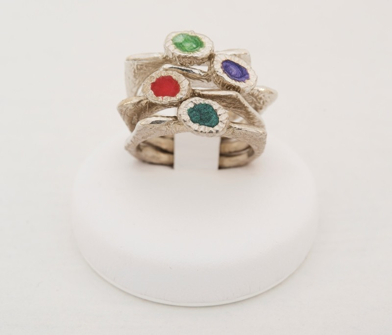 anello argento smaltato