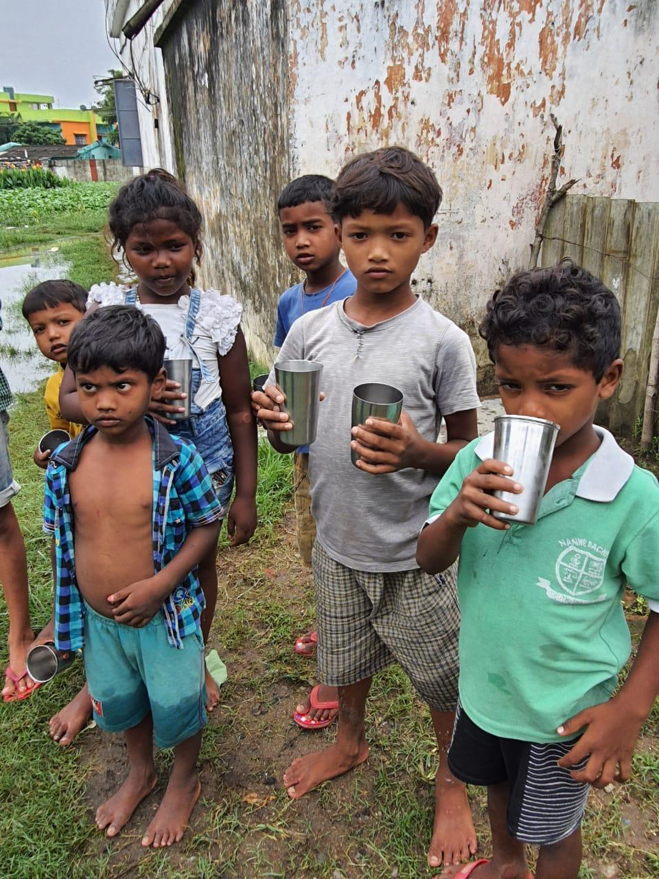 JOSHConnect Foundation Daily Milk Distribution to undernourished kids of Assam and Ranchi