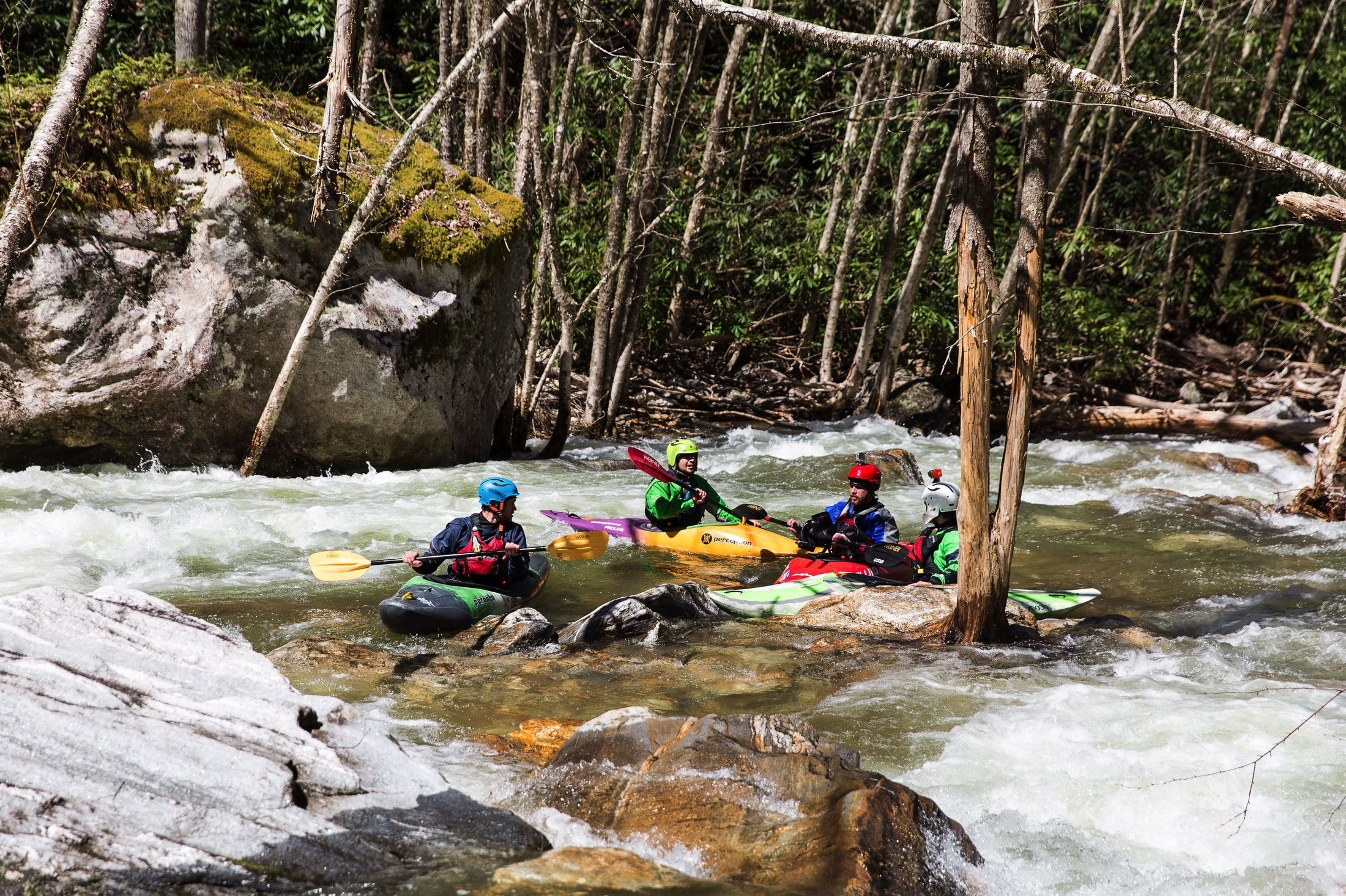 High Falls recreational releases feature Class IV rapids for paddlers