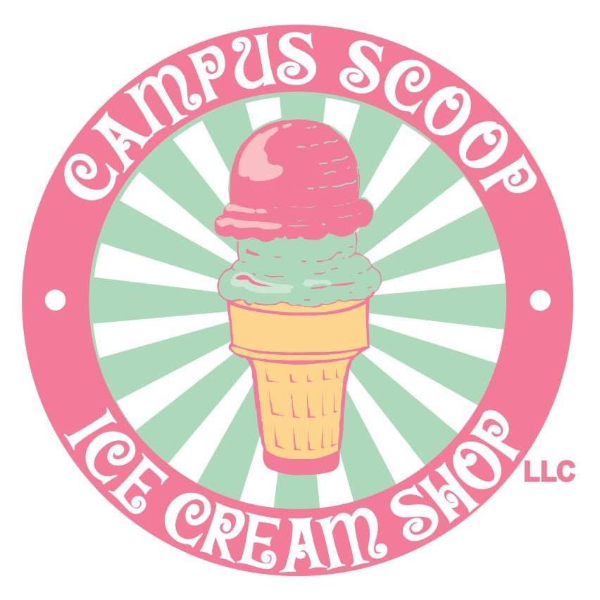 Campus Scoop Ice Cream Shop Logo