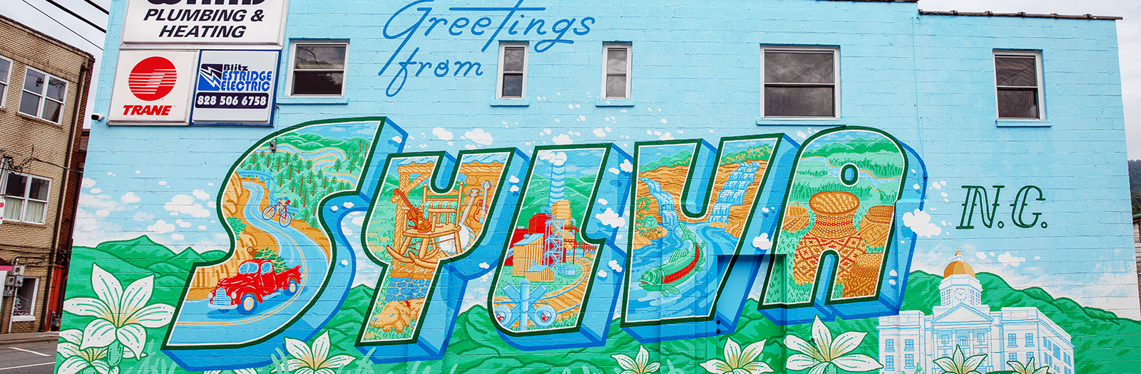Photo of Downtown Sylva Mural