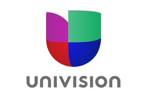 Logo that reads Univision