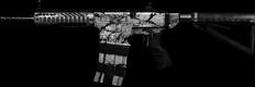 Snow Camo AR-15 Double Barrel Core+