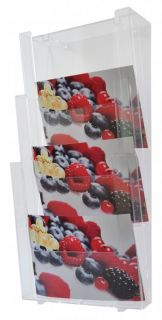 Suport pentru pliante și reclame, prindere pe perete, JJ DISPLAYS, 210 x 297 mm