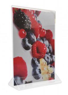 Menu Card Holder 1/3 A4, JJ DISPLAYS, 1/3 A4 99 x 210 mm, Portrait