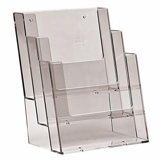 Counter Stander Taymar - suport pentru pliante cu trei buzunare, JJ DISPLAYS, 148 x 210 mm