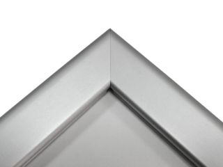 People Stopper, A board din profil aluminiu click  32mm cu colt la 45 grade, JJ DISPLAYS, dimensiuni la cerere