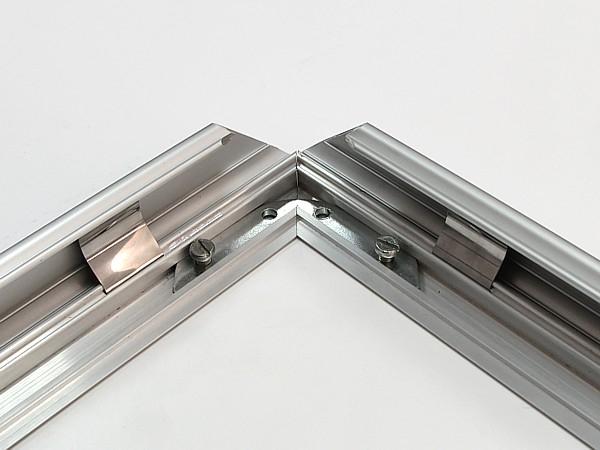 People Stopper Double Frame, A board din profil aluminiu click  32mm cu colt rotund A1, JJ DISPLAYS, 594 x 841 mm