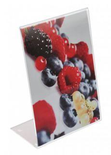 Acrylic L - Display din plexiglas A5, JJ DISPLAYS, 148 x 210 mm, Portrait