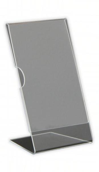L Display din plexiglas, pentru print-uri sau fotografii 1/3 A4, JJ DISPLAYS, 1/3 A4 99 x 210 mm, Landscape