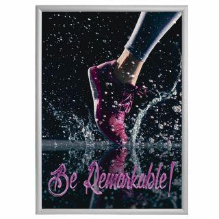 Ramă click 25, Poster Frame din aluminiu, cu colțuri drepte, JJ DISPLAYS, dimensiuni la cerere