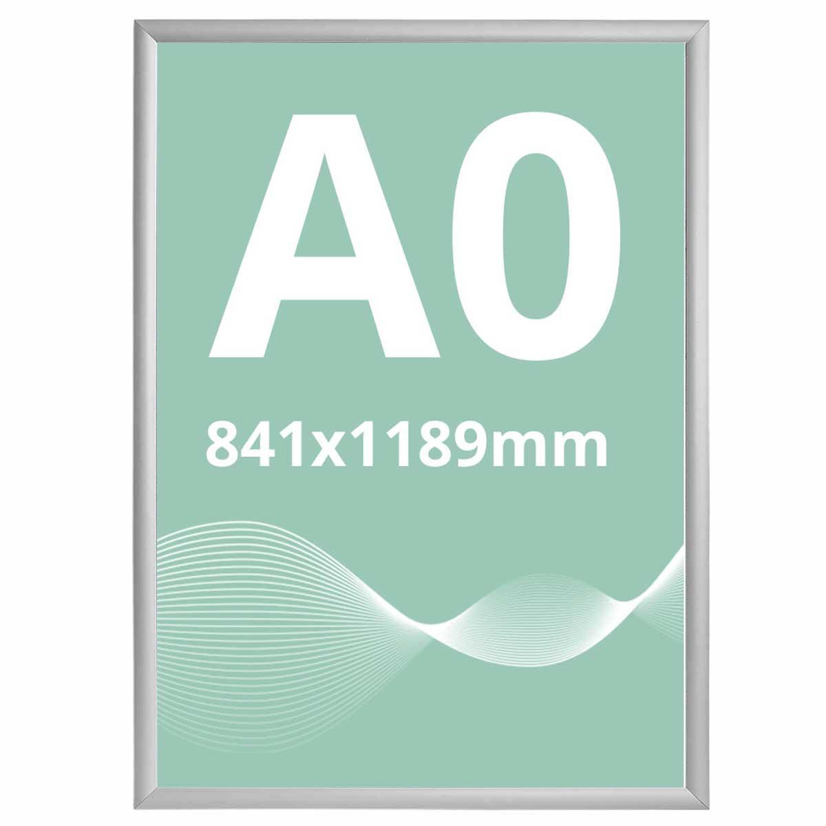 Ramă click 25, Poster Frame din aluminiu, cu colțuri drepte A0, JJ DISPLAYS, 841 x 1189 mm