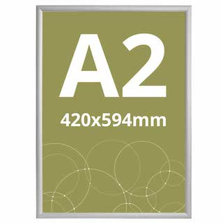 Ramă click 25, Poster Frame din aluminiu, cu colțuri drepte A2, JJ DISPLAYS, 420 x 594 mm