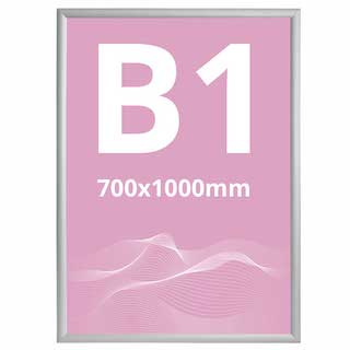 Ramă click 25, Poster Frame din aluminiu, cu colțuri drepte S7, JJ DISPLAYS, 700 x 1000 mm