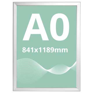 Ramă click Poster Frame din aluminiu 32, colțuri drepte A0, JJ DISPLAYS, 841 x 1189 mm