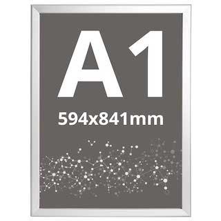 Ramă click Poster Frame din aluminiu 32, colțuri drepte A1, JJ DISPLAYS, 594 x 841 mm
