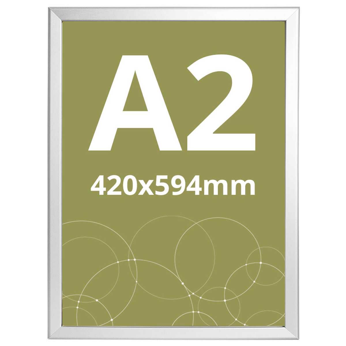 Ramă click Poster Frame din aluminiu 32, colțuri drepte A2, JJ DISPLAYS, 420 x 594 mm