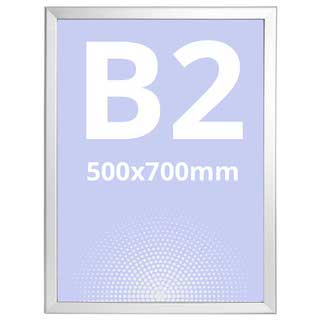 Ramă click Poster Frame din aluminiu 32, colțuri drepte S5, JJ DISPLAYS, 500 x 700 mm