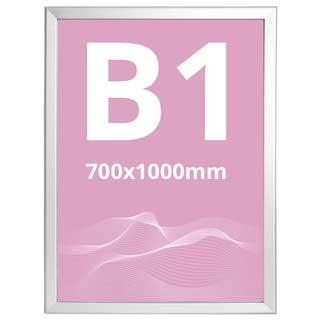 Ramă click Poster Frame din aluminiu 32, colțuri drepte S7, JJ DISPLAYS, 700 x 1000 mm