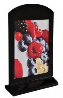Menu Holder din plexiglas A5, JJ DISPLAYS, 148 x 210 mm, Portrait