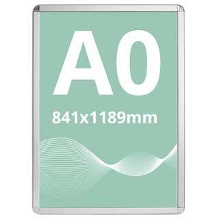 Ramă click Poster Frame din aluminiu 32, colțuri rotunde A0, JJ DISPLAYS, 841 x 1189 mm