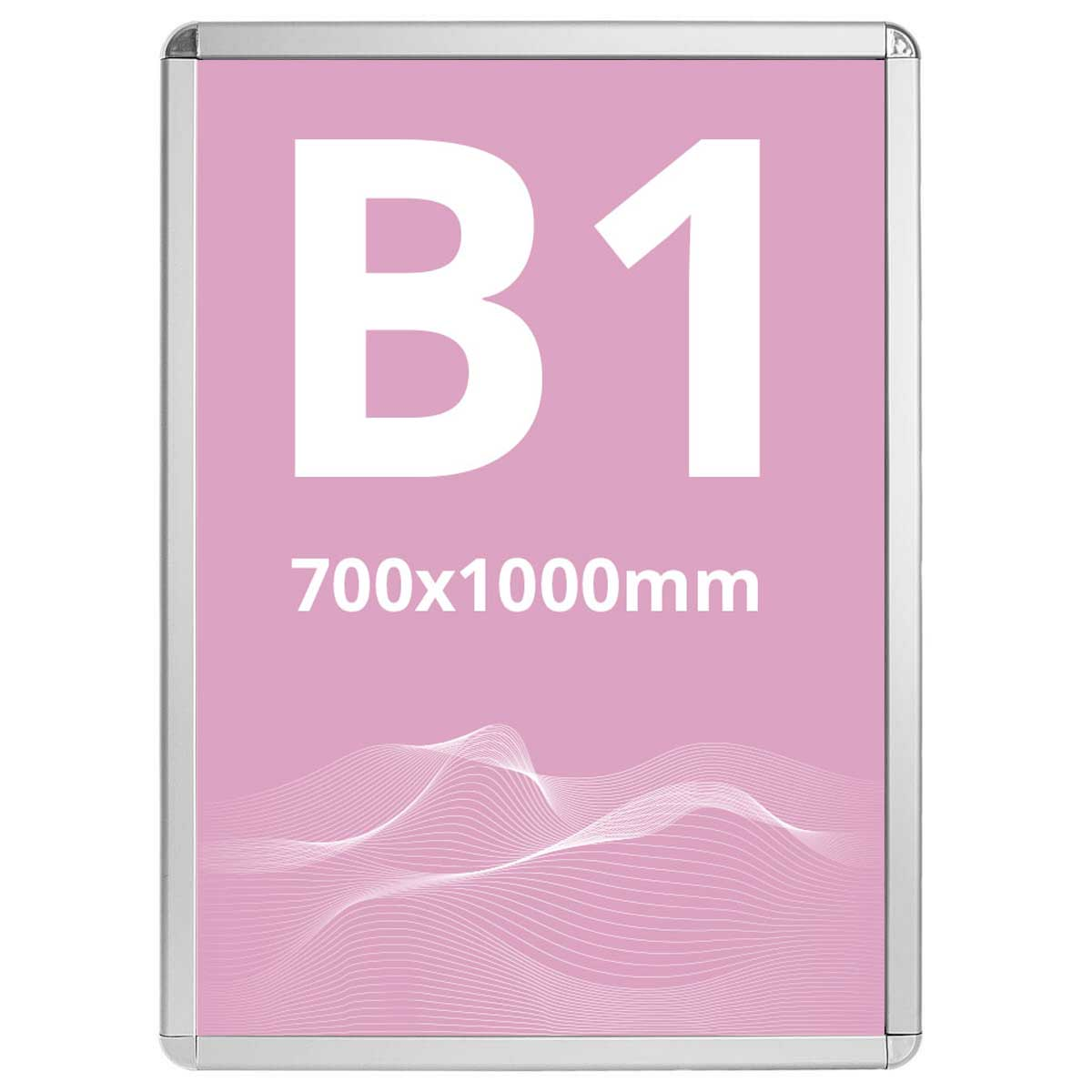 Ramă click Poster Frame din aluminiu 32, colțuri rotunde S7, JJ DISPLAYS, 700 x 1000 mm