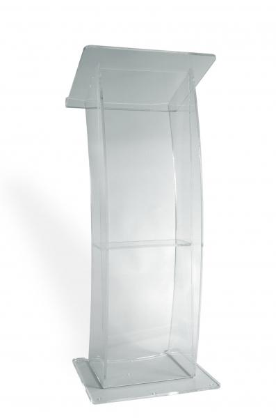 Pupitru pentru vorbitor conferințe, din plexiglas transparent, JJ DISPLAYS