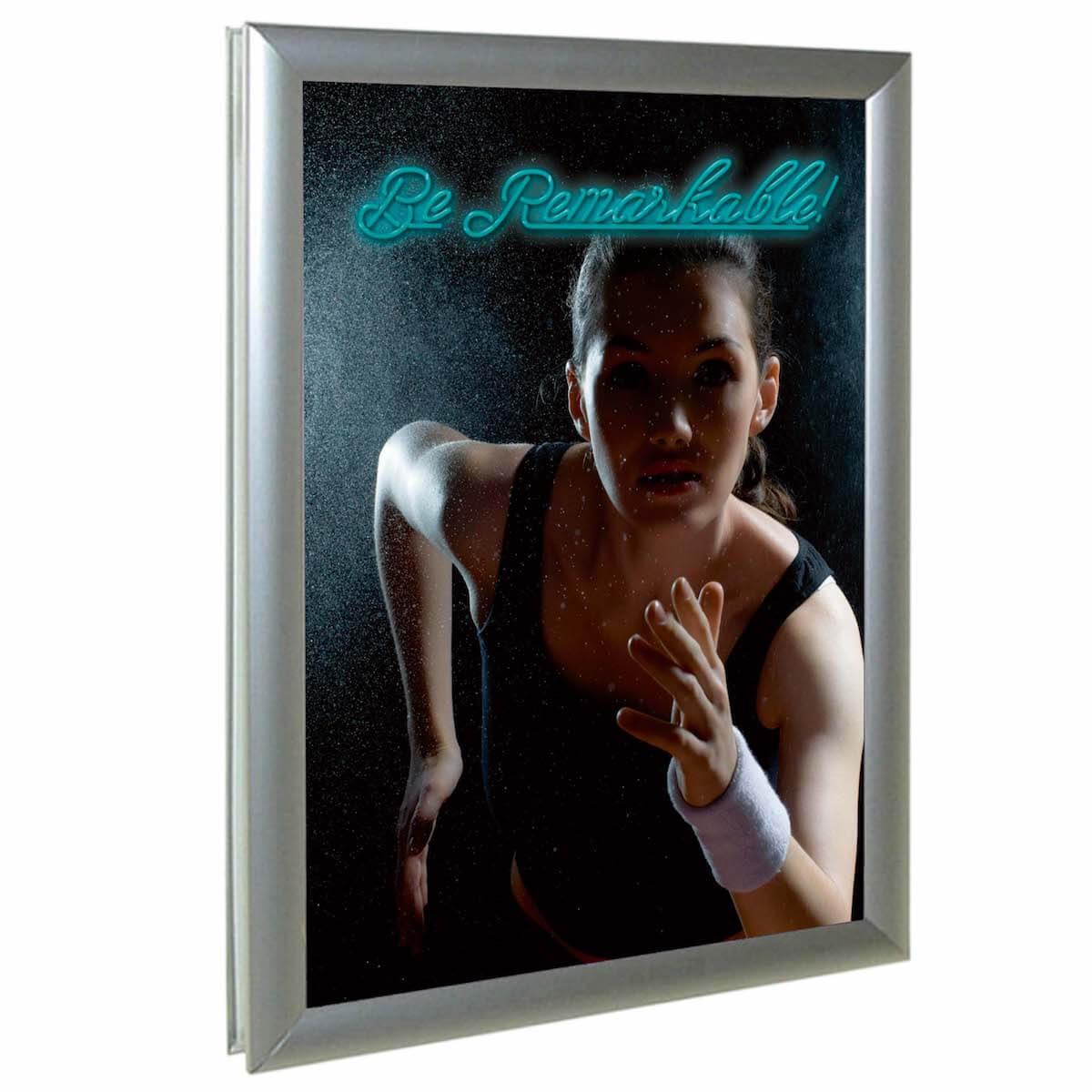 Window Frame 25, ramă click din aluminiu pentru ferestre, JJ DISPLAYS, dimensiuni la cerere
