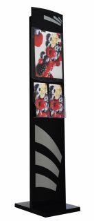 Showroom Display - Info stand din plexiglas pentru expozitii A4, JJ DISPLAYS, 210 x 297 mm