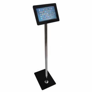 Stand tabletă, cu picior de inox și carcasă din plexiglas, JJ DISPLAYS