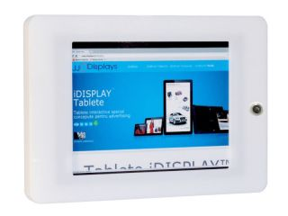 Suport securizat din plexiglas cu prindere pe perete pentru tablete, landscape sau portrait, JJ DISPLAYS