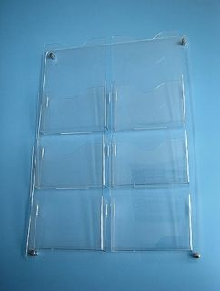 Suport pentru pliante și reclame, plastic transparent, prindere pe perete A4, JJ DISPLAYS, 210 x 297 mm