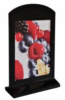 Display Menu Holder din plexiglas negru A4, JJ DISPLAYS, 210 x 297 mm, Portrait