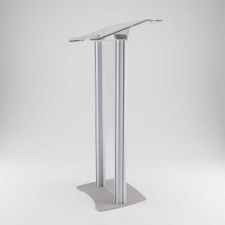 Pupitru pentru conferințe din plexiglas și aluminiu, JJ DISPLAYS, dimensiuni la cerere