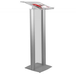 Pupitru pentru conferințe din plexiglas și aluminiu, JJ DISPLAYS