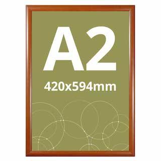 Ramă click WOOD, cu imitație de lemn A2, JJ DISPLAYS, 420 x 594 mm