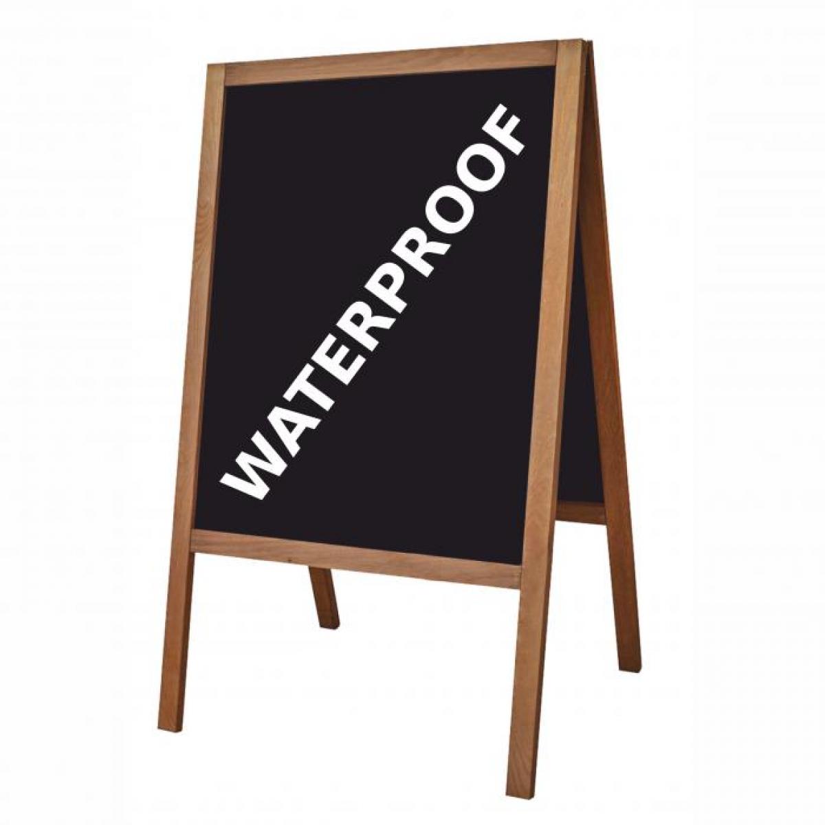 People Stopper WOOD, capră stradala din lemn cu tablă de scris cu creta sau marker, pentru EXTERIOR, JJ DISPLAYS