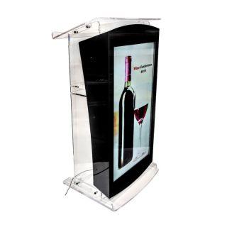 Pupitru Digital Dr. LECTERN, pentru conferințe, din plexiglas transparent, cu televizor, JJ DISPLAYS