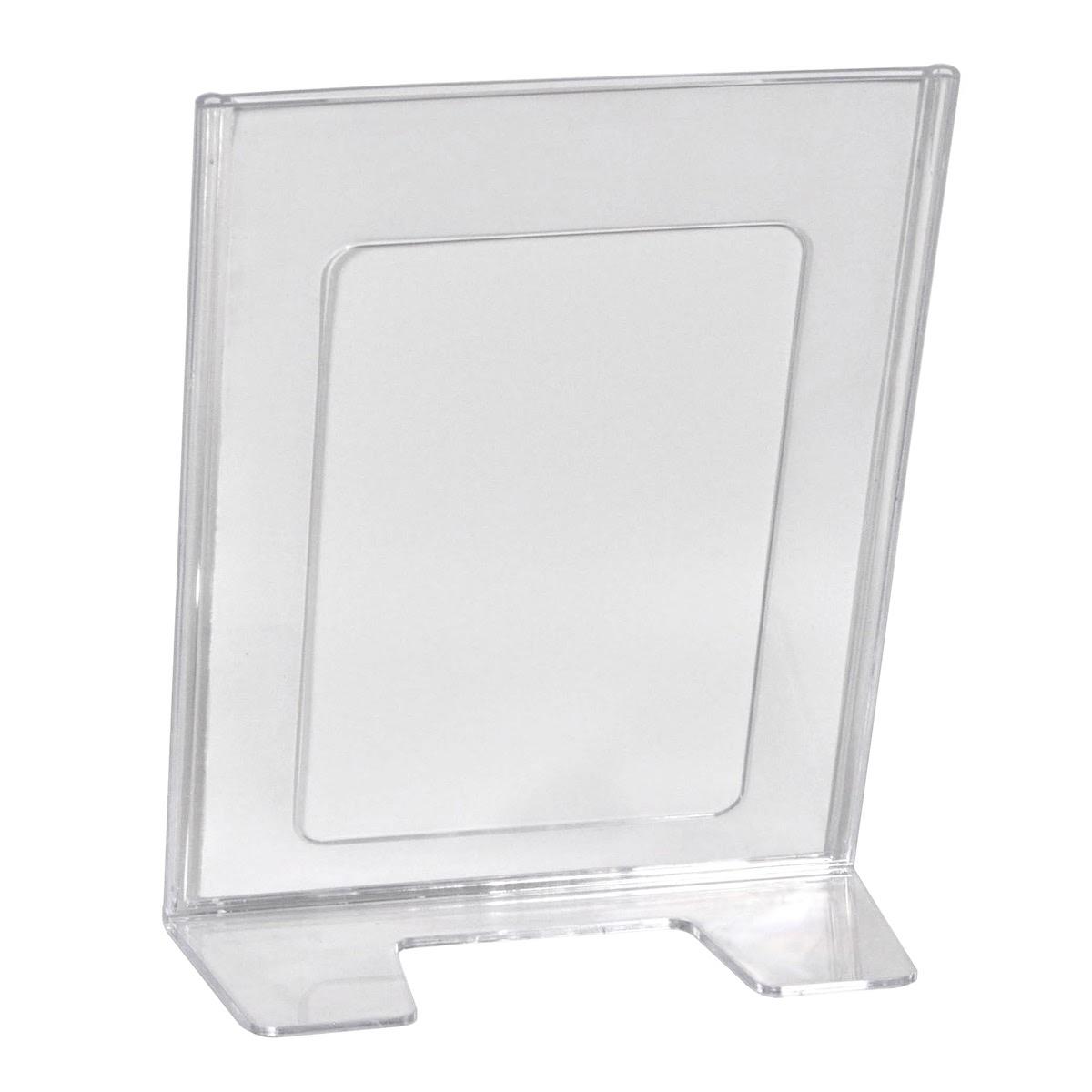 Suport pliante HOLDER MOULDED, din plastic transparent turnat, JJ DISPLAYS
