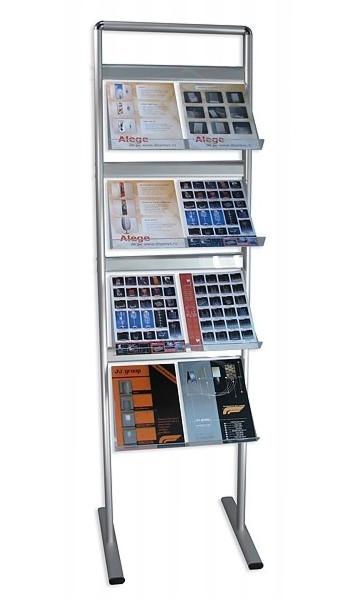 Stand pentru pliante și cataloage | Brochure Holders, JJ DISPLAYS, cu 5 rafturi